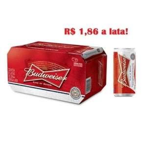 [Emporio da Cerveja] Cerveja Budweiser Lata 269 ml Caixa com 08 Unidades por R$ 15