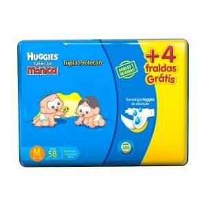[NetFarma] Fraldas Huggies Turma da Mônica Tripla Proteção M - 58 unidades por R$ 34