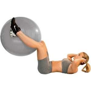 [Sou barato] Gym Ball c/ Bomba de Ar 55cm Prata - Acte Sports - R$ 38,00