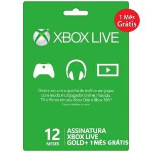 [Extra] Xbox Live Gold - 12 Meses + 1 Mês Grátis- R$ 149,90