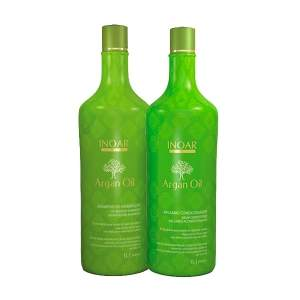 [Voltou - Netfarma] Kit Shampoo + Bálsamo Inoar Argan Oil, 1L - R$56