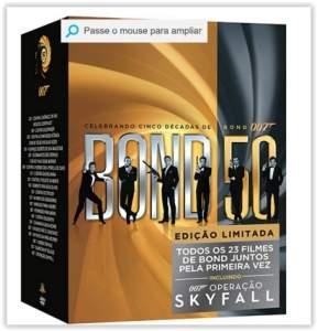 [Submarino] Coleção DVD 007 Celebrando Cinco Décadas de Bond - Incluindo 007 Operação Skyfall (23 Discos)  por R$ 100