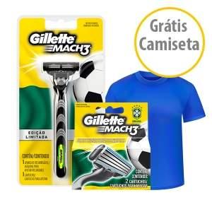 [NetFarma]  Kit gillette mach 3 regula aparelho de barbea carga por R$ 29