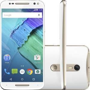 "[AMERICANAS] Smartphone Motorola Moto X Style Dual Chip Desbloqueado Android 5.1.1 Tela 5.7"" 32GB 4G 21MP- Branco e Dourado"