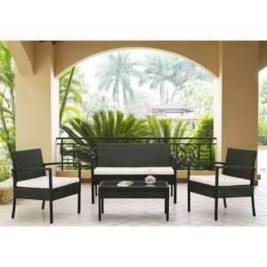 [Mobly] Conjunto de 2 Poltronas 1 Sofá e 1 Mesa de Centro 210000 por R$ 680