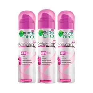 [Netfarma] Kit Desodorante Aerosol Garnier Bí-O Protection 5 Feminino - R$25