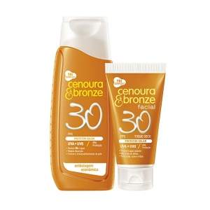 [Voltou - Netfarma] Kit Protetor Solar Cenoura e Bronze FPS 30 200ml + Protetor Facial FPS 30 50g - R$29