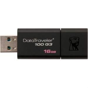 [Americanas] Pen Drive Datatraveler 100 G3 16gb Usb 3.0 Preto Kingston por R$ 19