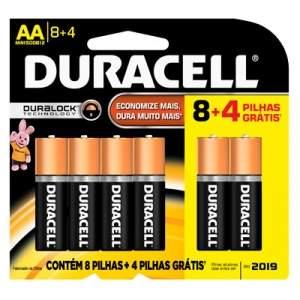 [Kalunga] Pilha alcalina pequena AA leve 12 pague 8 80673781 Duracell BT 1 UN por R$ 26