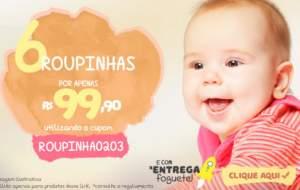 [Bebe Store] 6 roupinhas de bebês por R$ 100