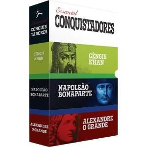 [Americanas] Box de Livros - Essencial Conquistadores (3 Volumes) Gêngis Khan Napoleão Bonaparte Alexandre - O Grande por R$ 12