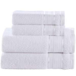 [Insinuante] Jogo de Banho 4 peças Toalhas 100% Algodão 360 g/m² Linha Royal Knut Branco - Santista por R$ 27