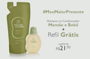 [Natura]   Kit Natura Mamãe e Bebê - Shampoo/Condicionador + Refil  R$ 22