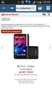 [Clube do Ricardo] Motorola Moto Maxx - R$1799