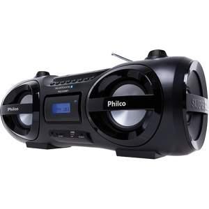 [Ricardo Eletro] Som Portátil 100W Philco - CD, Rádio FM, Bluetooth, USB, Cartão de Memória e Auxiliar – PB330BT - R$340