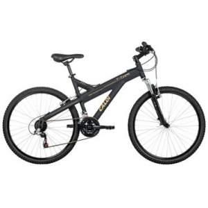 [Clube do Ricardo] Bicicleta Caloi T-Type, Aro 26, 21 marchas, Quadro em alumínio, Suspensão Dianteira, Câmbio Shimano, Preta - Caloi - R$ 699,90