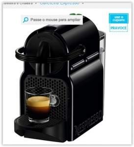 [Submarino]  Cafeteira Expresso Nespresso 19 BAR Black Inissia por R$ 202