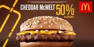 [Mc Donalds] Cupom de 50% de desconto no Cheddar Mc Melt - Gratis
