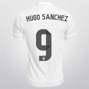 [BUGGGGG/NETSHOES] CAMISA ADIDAS REAL MADRID HOME 2015 Nº 9 - HUGO SANCHEZ