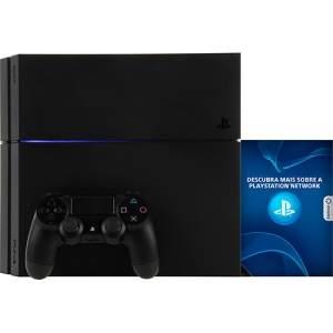 Americanas - Console PS4 500GB + 1 Controle Dualshock 4 (Fabricado no Brasil com 1 ano de garantia) - Sony