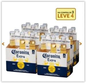 [Emporio da Cerveja] Kit Coronita Extra 210ml - Na Compra de 3, Leve 4 Caixas por R$ 59