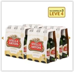 [Emporio da Cerveja] Kit Stella Artois 275ml - Na Compra de 3, Leve 4 Caixas por R$ 59