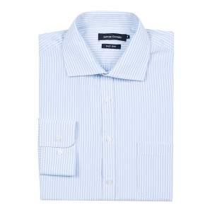 [Camisaria Colombo] Camisa Social Masculina Azul Listrada Vários Tamanhos por R$ 34
