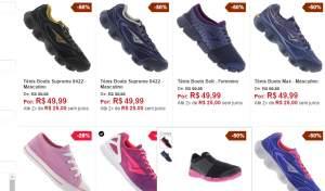 [Centauro] Qualquer calçado da lista por R$50