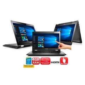 """[EXTRA] Notebook 2 em 1 Touch Lenovo Yoga 500 com Intel® Core™ i5-5200U, 4GB, 1TB, Leitor de Cartões, HDMI, Wireless, Bluetooth, Webcam, LED 14"""" e Windows 10 - R$ 2317,50 com o cupom SEMCRISE"""