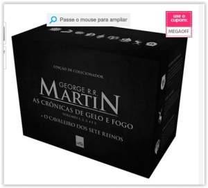 [Submarino] Livro - Box - As Crônicas de Gelo e Fogo [Volumes 1, 2, 3, 4 e 5]  por R$ 59