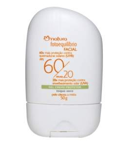 [Natura]  Gel Creme Protetor Facial FPS 60 Pele Oleosa a Mista Fotoequilíbrio - 50g R$ 39