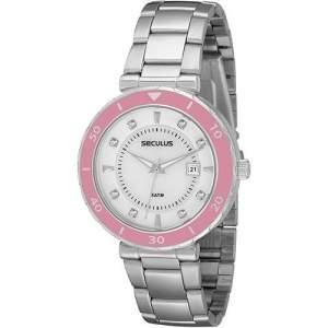 [SOU BARATO] Relógio Feminino Seculus Analógico Social 28186L0SPNS1 - R$ 59,90