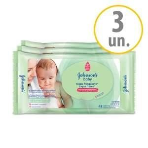 [Netfarma] Kit Lenços Umedecidos Johnson`s Baby Toque Fresquinho por R$18