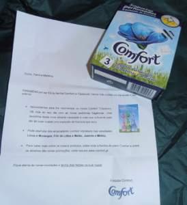 [Unilever] Amostra grátis de Comfort - Grátis