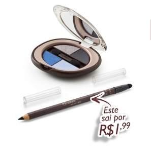 [Natur]  Kit Natura Aquarela - Quarteto de Sombras + Lápis Kajal Preto (Cod. Prod. 65383) Aqui tem promoção de R$ 83,70 por R$ 55,89