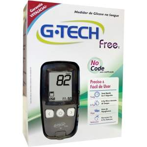 [Americanas] Kit Medidor de Glicose - G-Tech Free 1 por R$ 36