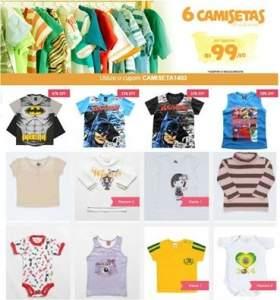 [Bebê Store] 6 camisetas e blusas R$ 99