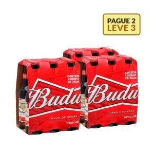 [Emporio da Cerveja] Kit Budweiser 343ML - Na Compra de 2, Leve 3 Caixas por R$ 38