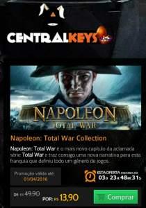 [Central Keys] Napoleon Total War Collection STEAM KEY por R$ 14