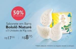 [Rede natura]Bololô Sabonete em Barra Naturé - 3und de 90g por R$ 9
