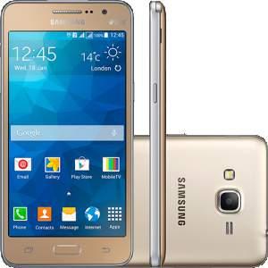 "[Sou Barato] Smartphone Samsung Gran Prime Duos G531H Dual Chip Desbloqueado Oi Android 5.1 5"" 8GB 3G 8MP - Dourado por R$ 584"