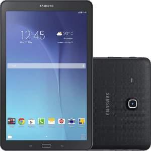 """[Americanas] Tablet Samsung Galaxy Tab E T560 8GB Wi-Fi Tela 9.6"""" Android 4.4 Quad-Core - Preto por R$ 703"""