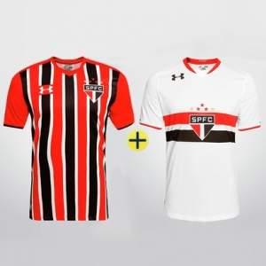 [São Paulo Mania] Under Armour São Paulo - Camisa I 2015 s/nº + Camisa II 2015 s/nº - por R$180 + frete grátis