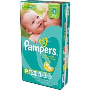 [Shoptime] Fraldas Descartáveis Pampers Total Confort Tam.P (50 unidades) - R$29