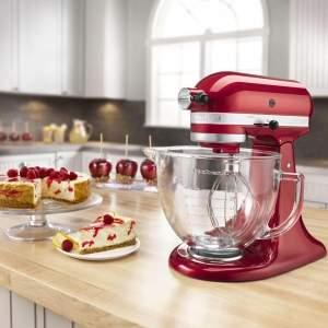 [Ponto Frio] Batedeira Kitchenaid Stand Mixer Candy Apple 10 Velocidades, Movimento Planetário e Tigela de 4,83L 110V – Vermelha - R$1675