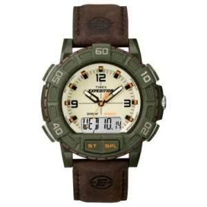 [Clube do Ricardo] Relógio Masculino Analógico/Digital Timex, Caixa de 4,89 cm, Pulseira de Couro - T49969WKL por R$ 160