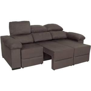 [Americanas] Sofá 3 Lugares Reclinável e Assento Retrátil Ripley Suede - (4 opções de cores) - R$684