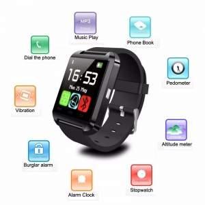 [Importeeletronicos] Relógio inteligente pulseira Bluetooth Android relógio Digital para iPhone6 5 5S / 4 / 4S SAMSUNG HuaWei XiaoMi sincronização mensagem Call R$ 65
