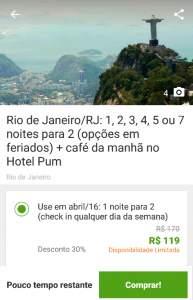 [Groupon] Rio de Janeiro/RJ: 1, 2, 3, 4, 5 ou 7 noites para 2 (opções em feriados) + café da manhã no Hotel Puma