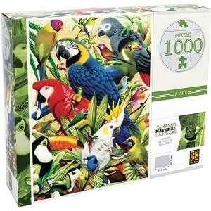 [Americanas] Quebra-cabeça 1000 Peças Aves - Grow por R$ 27